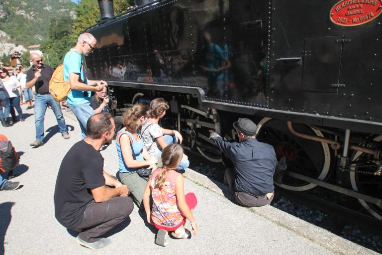 La locomotive à Annot