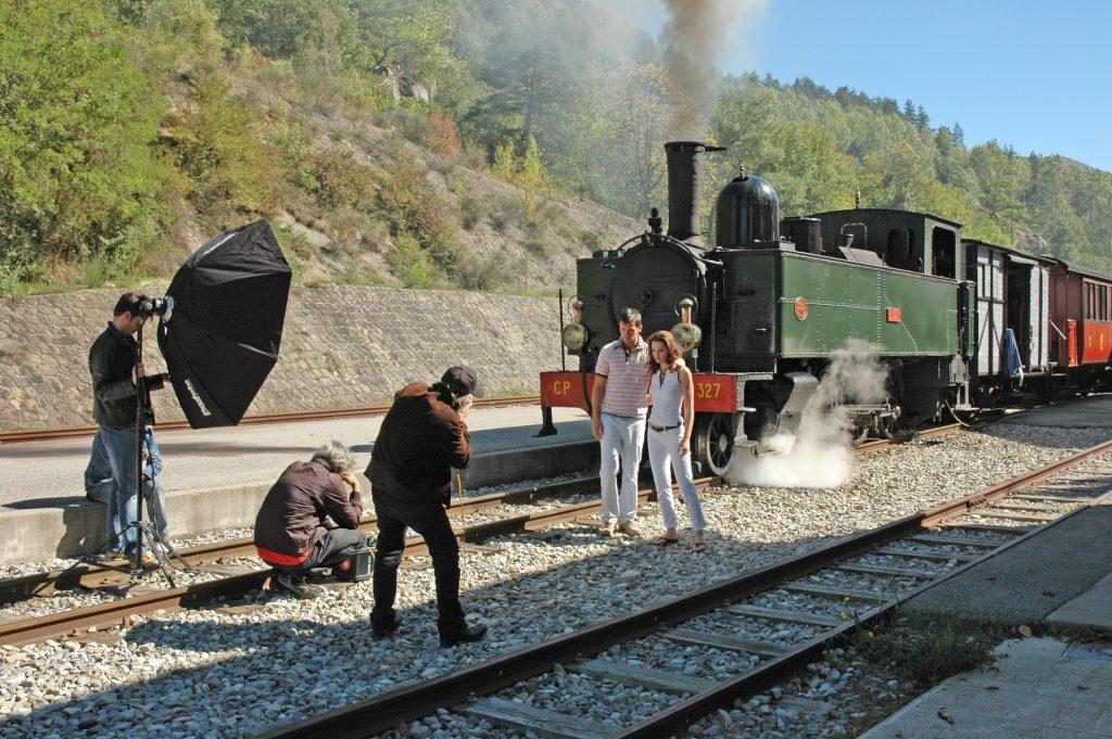 Tournage à bord du Train des Pignes à Vapeur !