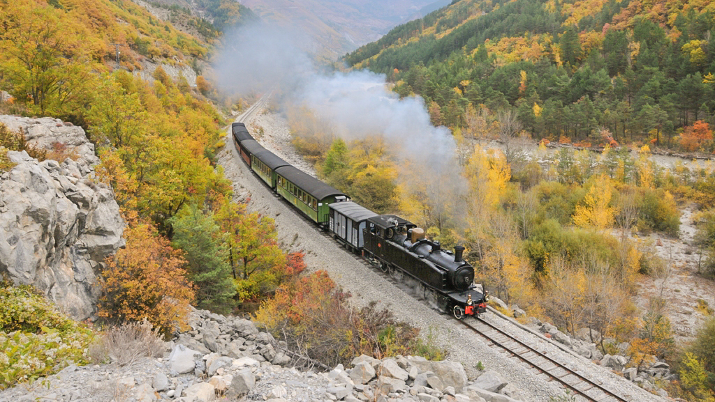 Le Train des Pignes à Vapeur à St Benoît